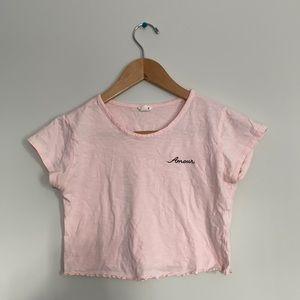Crop top pink